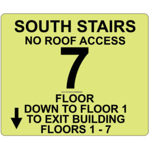 Series 500 Photoluminescent Floor Identification Sign