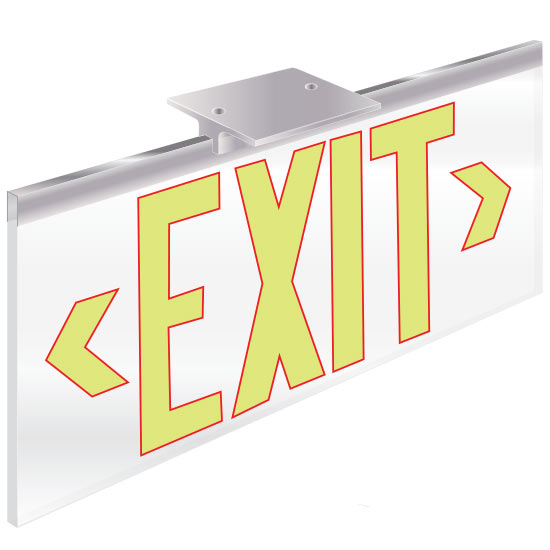 ECO-CLEAR Series 2003 Exit Sign